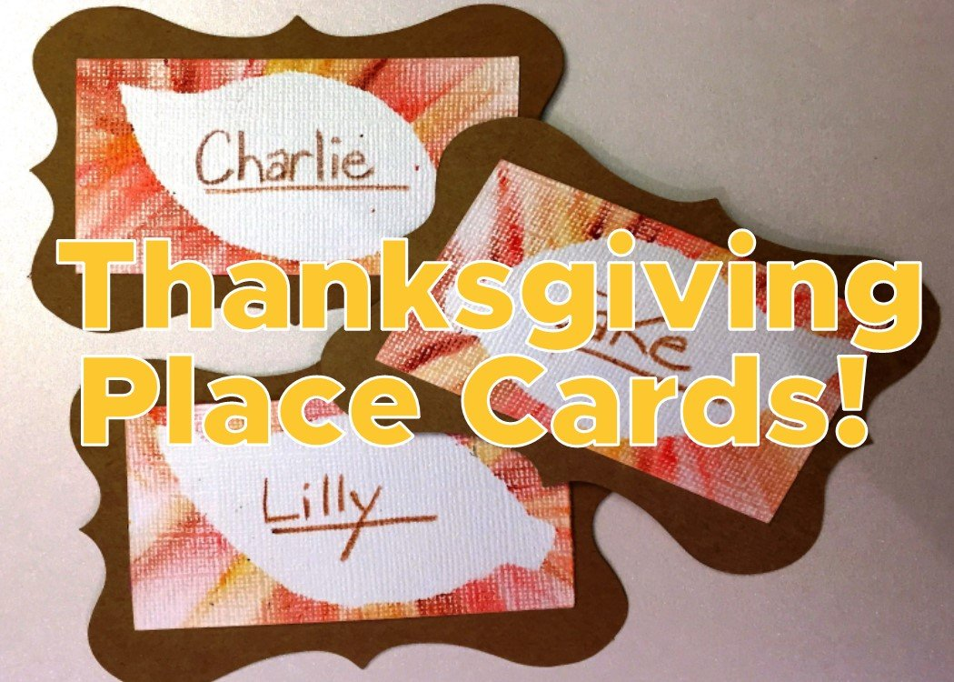 Thanksgiving Place Card Art Project