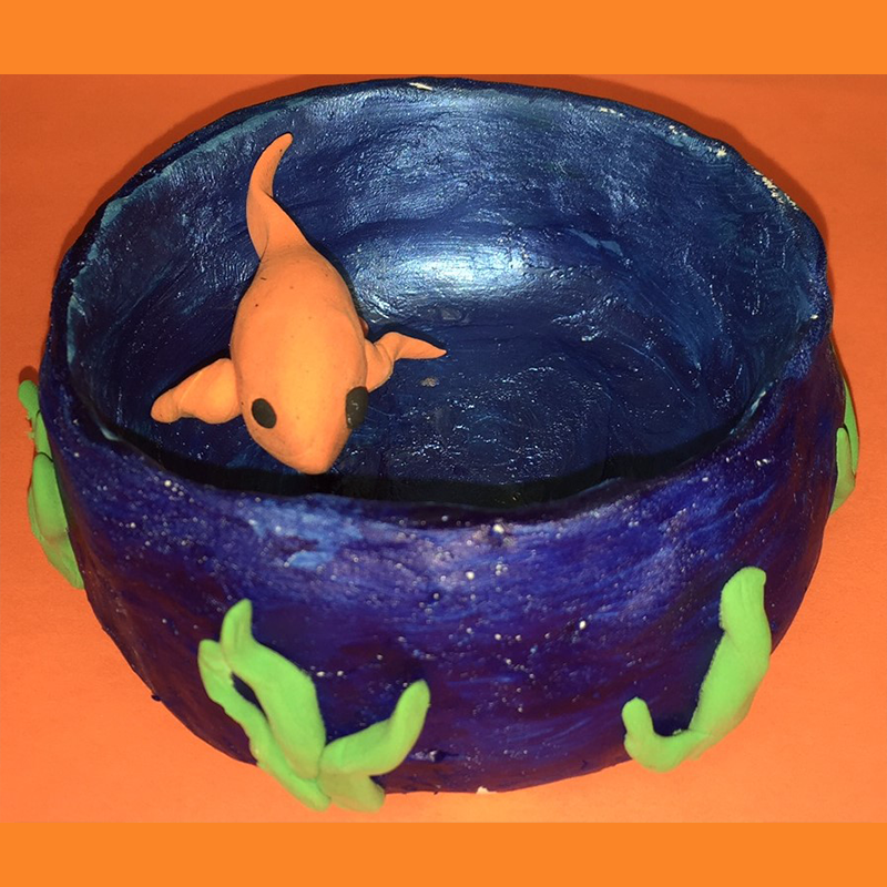 Kidcreate Studio - Greenville, 3D Goldfish in Bowl Art Project