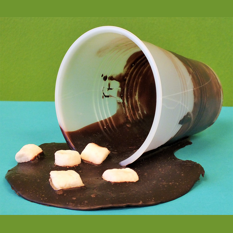 Kidcreate Studio - Parker, April Fools- Spilt Hot Chocolate Art Project