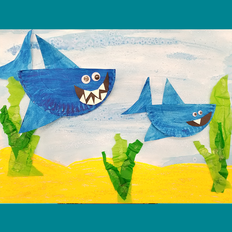 Kidcreate Studio - Parker, Baby Shark Art Project