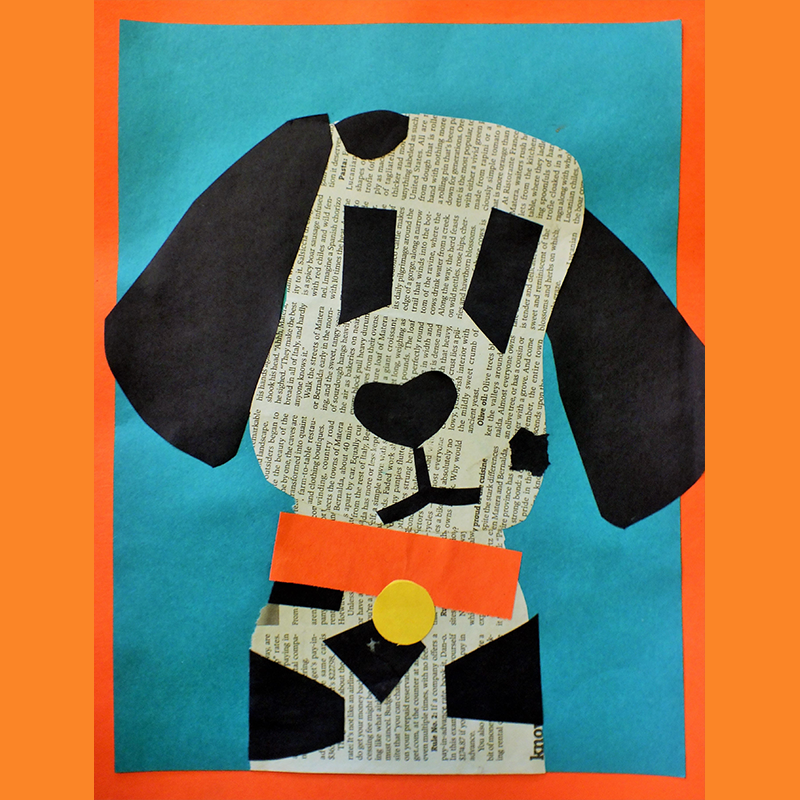 Kidcreate Studio - Woodbury, Newspaper Puppy Art Project