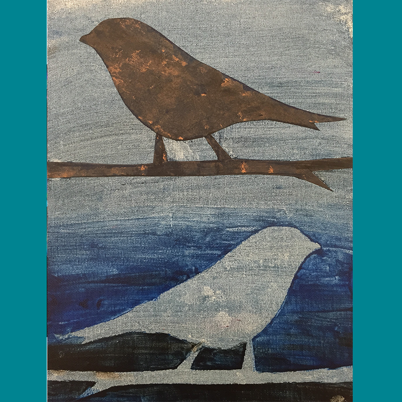Kidcreate Studio, Bird Silhouette on Canvas Art Project
