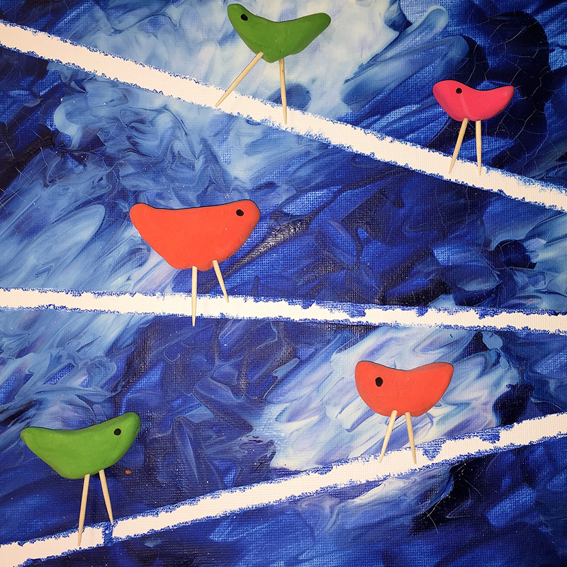 Kidcreate Studio - Woodbury, Birds on a Wire Art Project