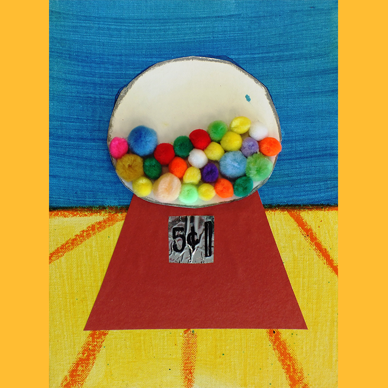 Kidcreate Studio, Thibaud's Gum Ball Machine Art Project