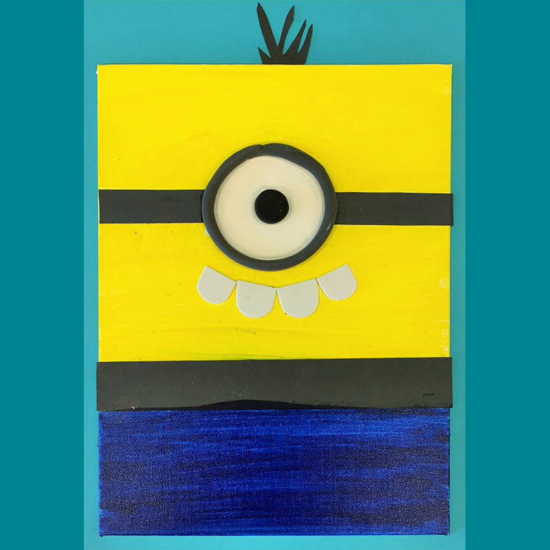 Kidcreate Studio, Minion on Canvas Art Project