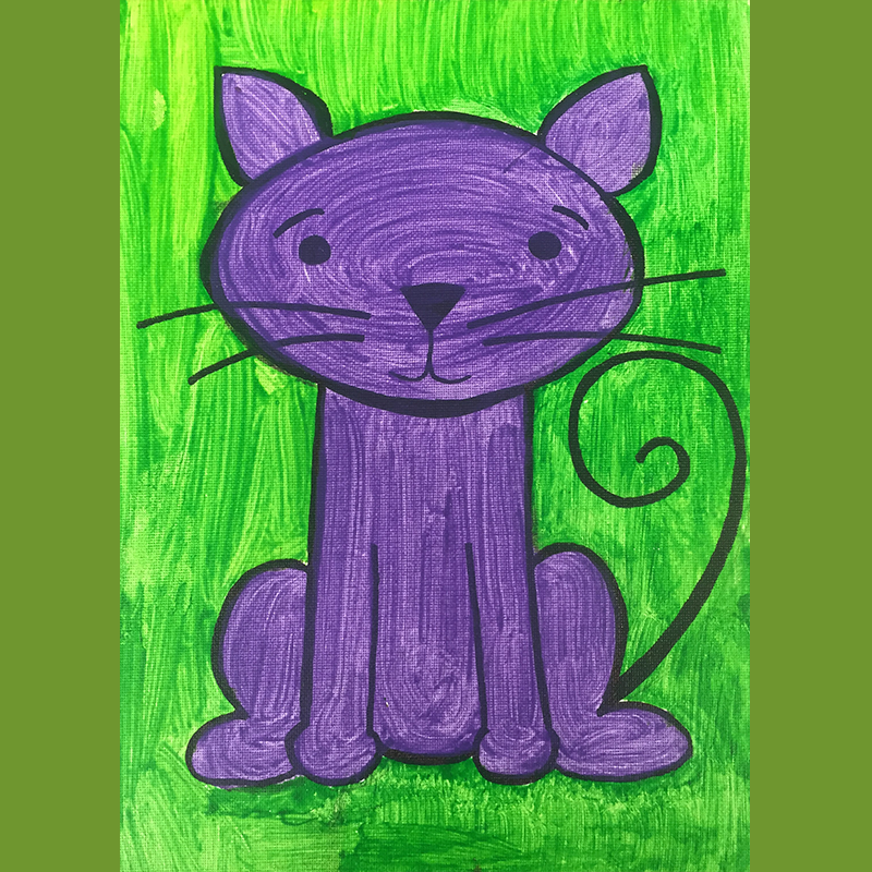 Kidcreate Studio, Cat on Canvas Art Project