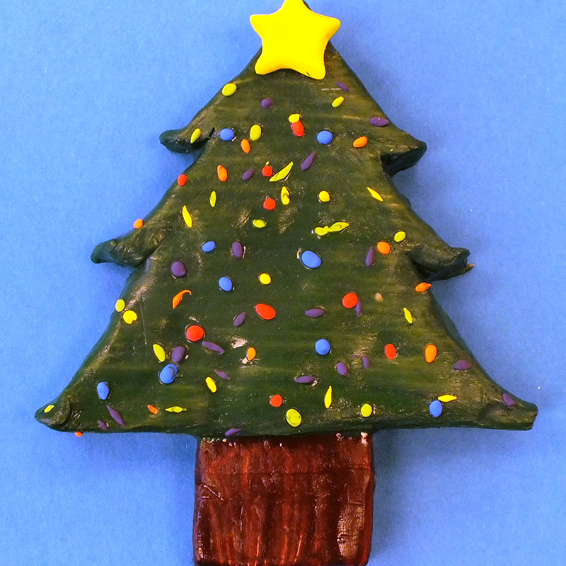 Kidcreate Studio, Clay Christmas Tree Art Project