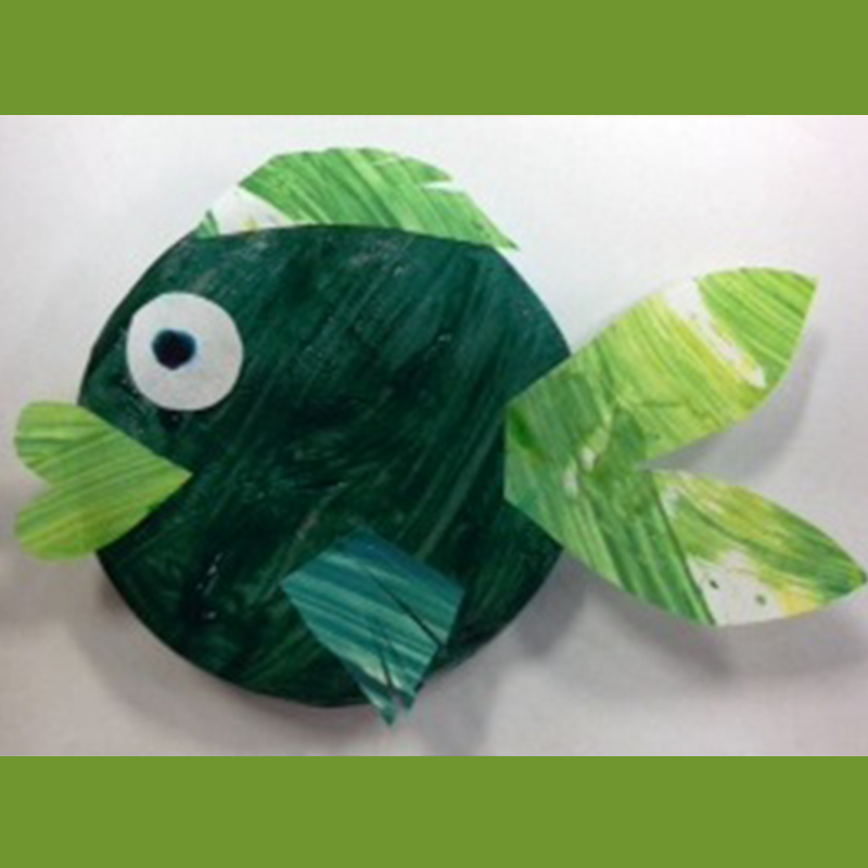Kidcreate Studio, Colorful Fish Art Project