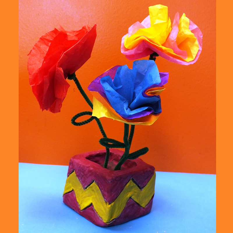 Kidcreate Studio, Flower Pot Art Project
