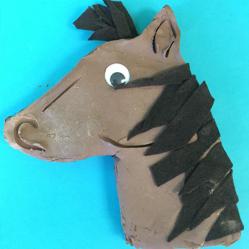 Kidcreate Studio, Horsing Around Art Project