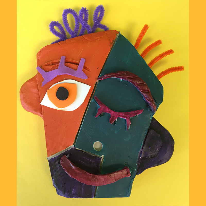 Kidcreate Studio, Picasso Portrait Art Project