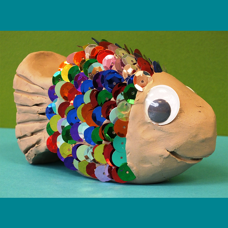 Kidcreate Studio, Rainbow Fish Art Project