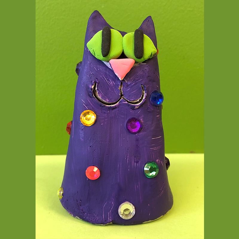 Kidcreate Studio, Sparkle Clay Cat Art Project