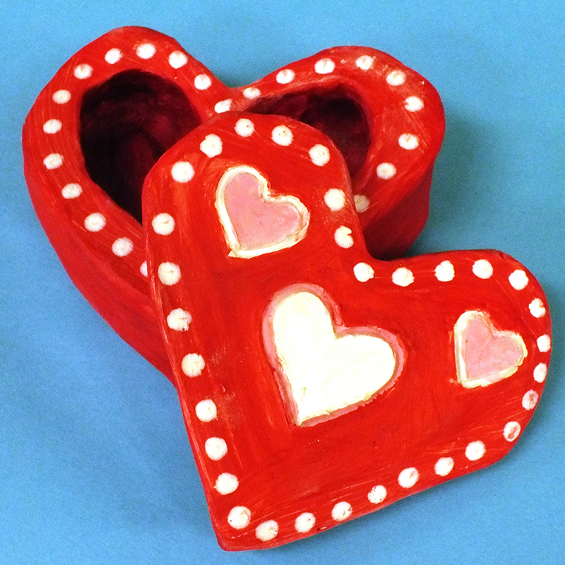 Kidcreate Studio, Valentine's Clay Box Art Project