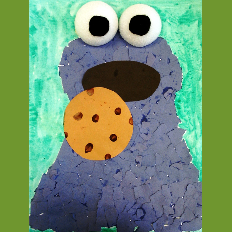 Kidcreate Studio, Cookie Monster Art Project