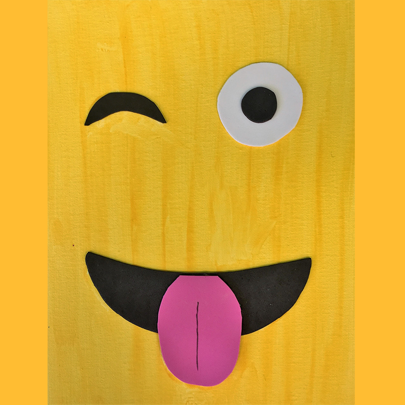 Kidcreate Studio, Emoji on Canvas Art Project