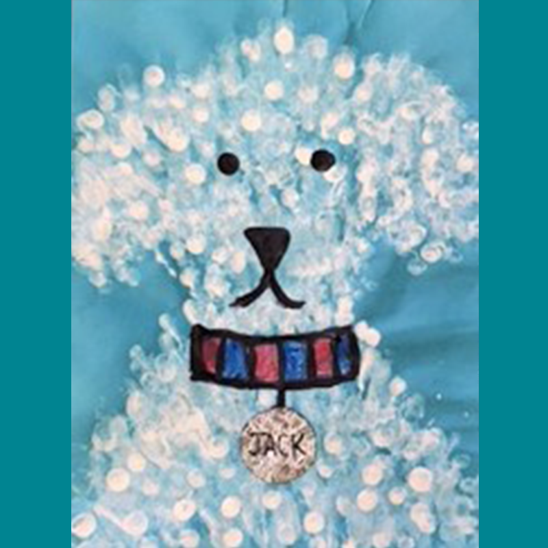 Kidcreate Studio, Fingerprint Puppy Art Project