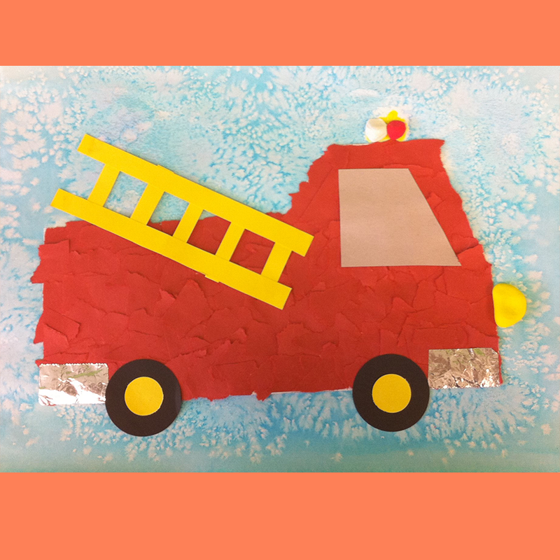 Kidcreate Studio, Firetruck Art Project