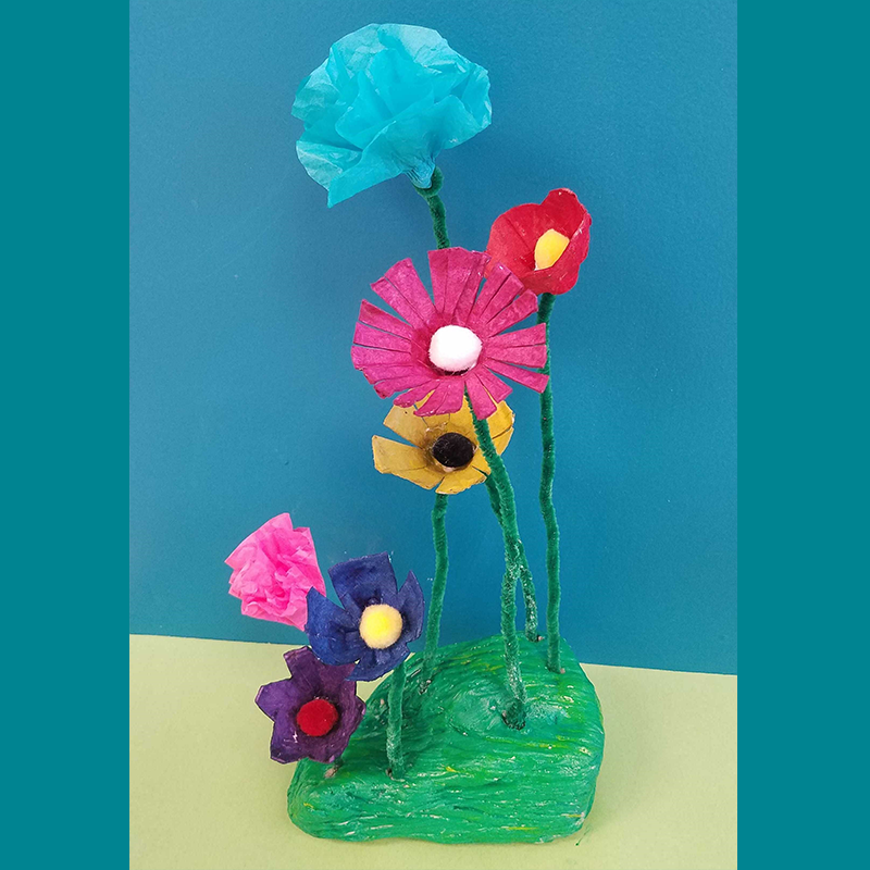 Kidcreate Studio, Flower Garden Art Project