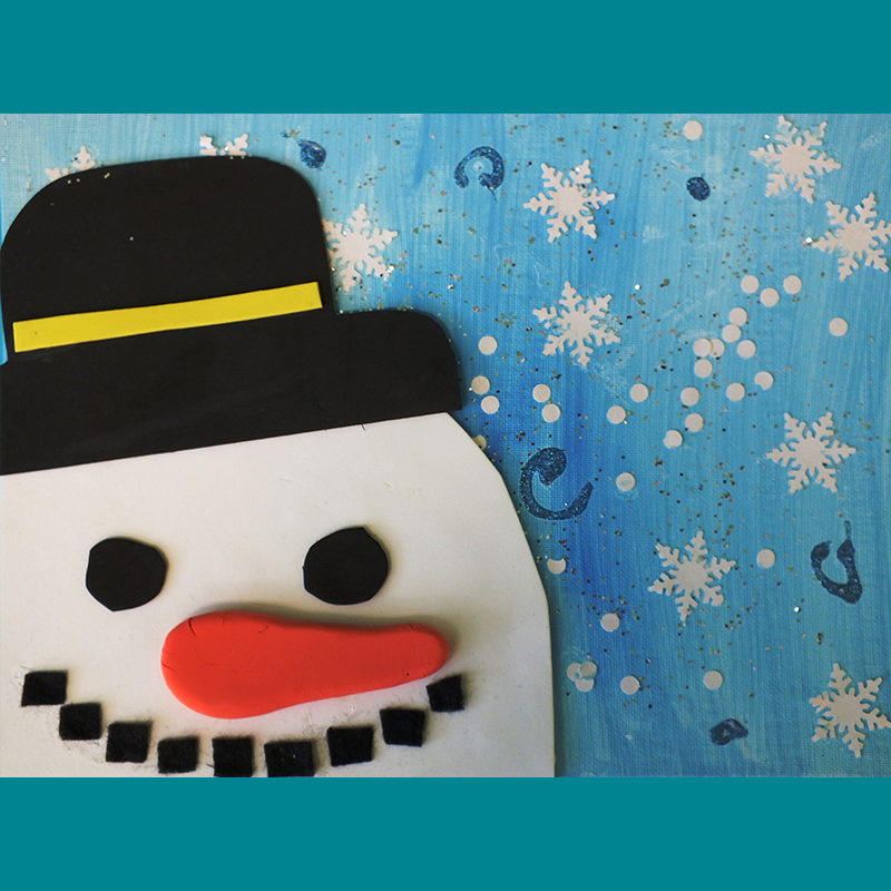Kidcreate Studio, Frosty on Canvas Art Project