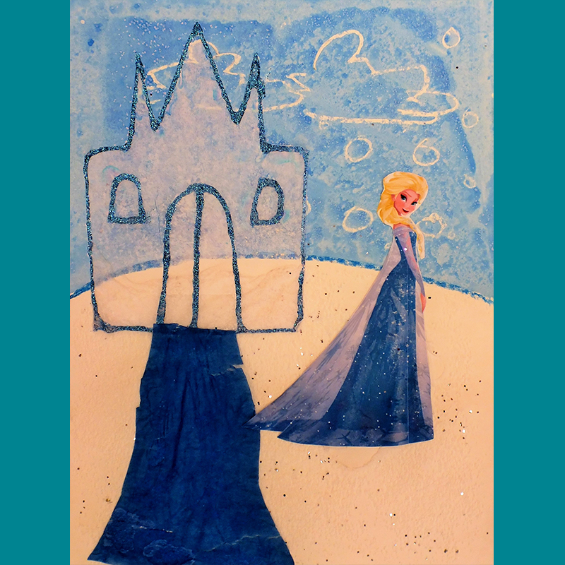 Kidcreate Studio, Frozen Castle on Canvas Art Project