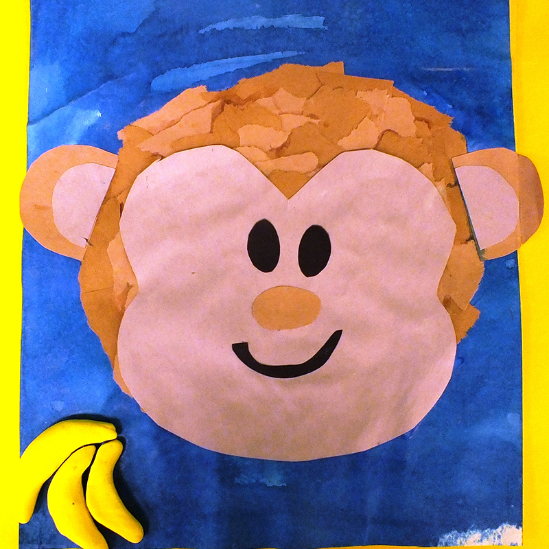Kidcreate Studio, Funny Monkey Art Project