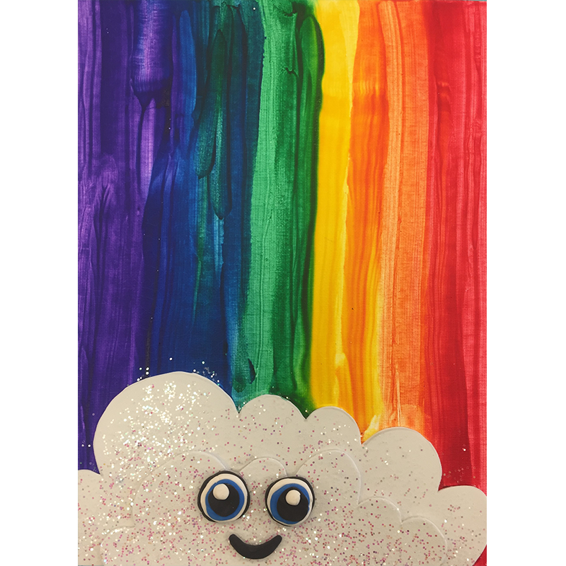 Kidcreate Studio, Glitter Rainbow on Canvas Art Project
