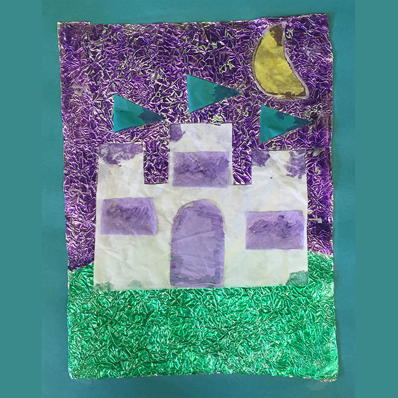 Kidcreate Studio, Glow-in-the-Dark Castle Art Project
