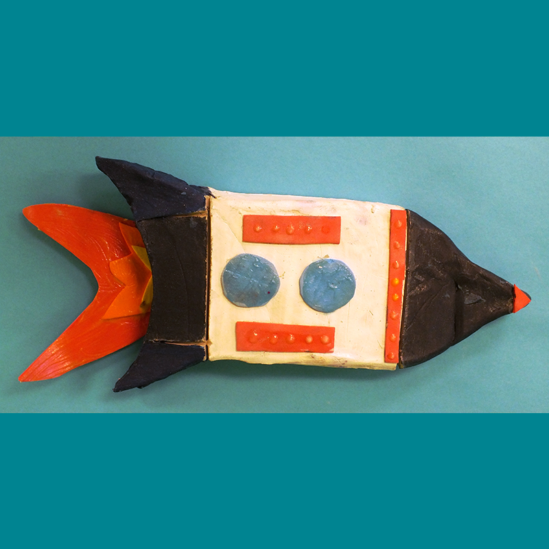 Kidcreate Studio - Woodbury, Glow-in-the-Dark Rocket Ship Art Project