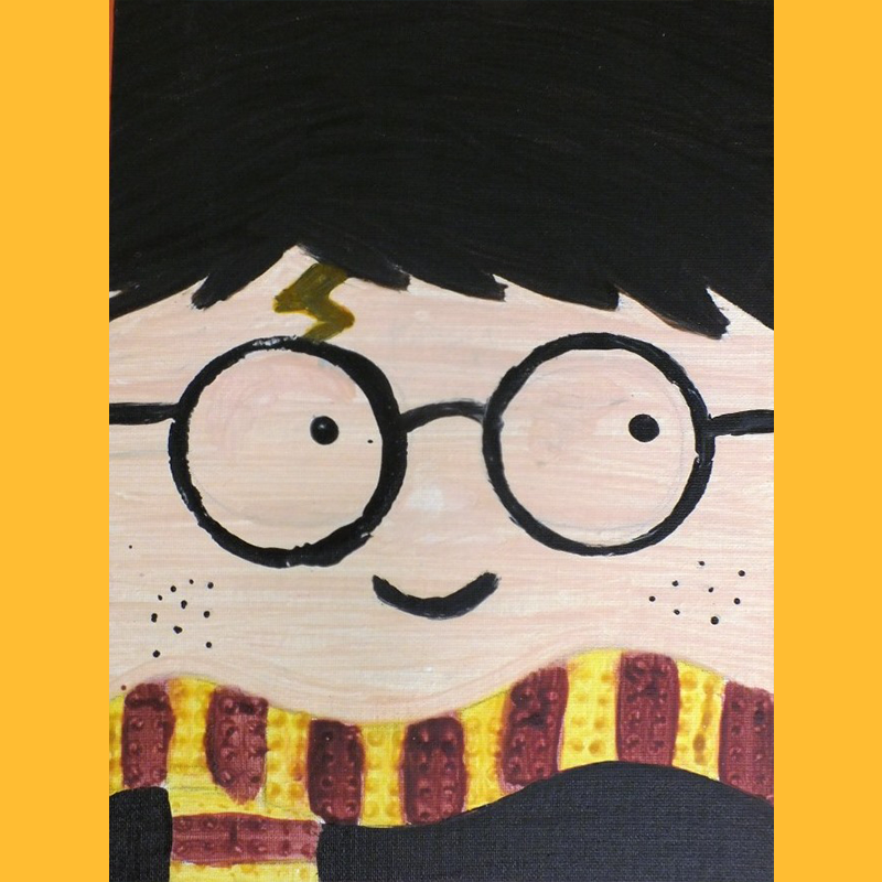 Kidcreate Studio, Harry Potter Portrait Art Project