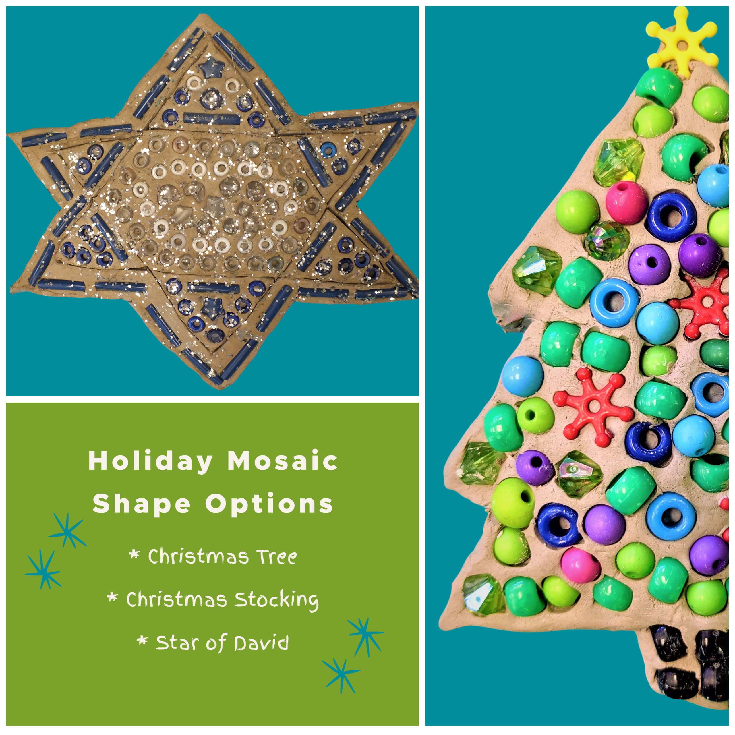 Kidcreate Studio - Fayetteville, Holiday Clay Mosaic Art Project