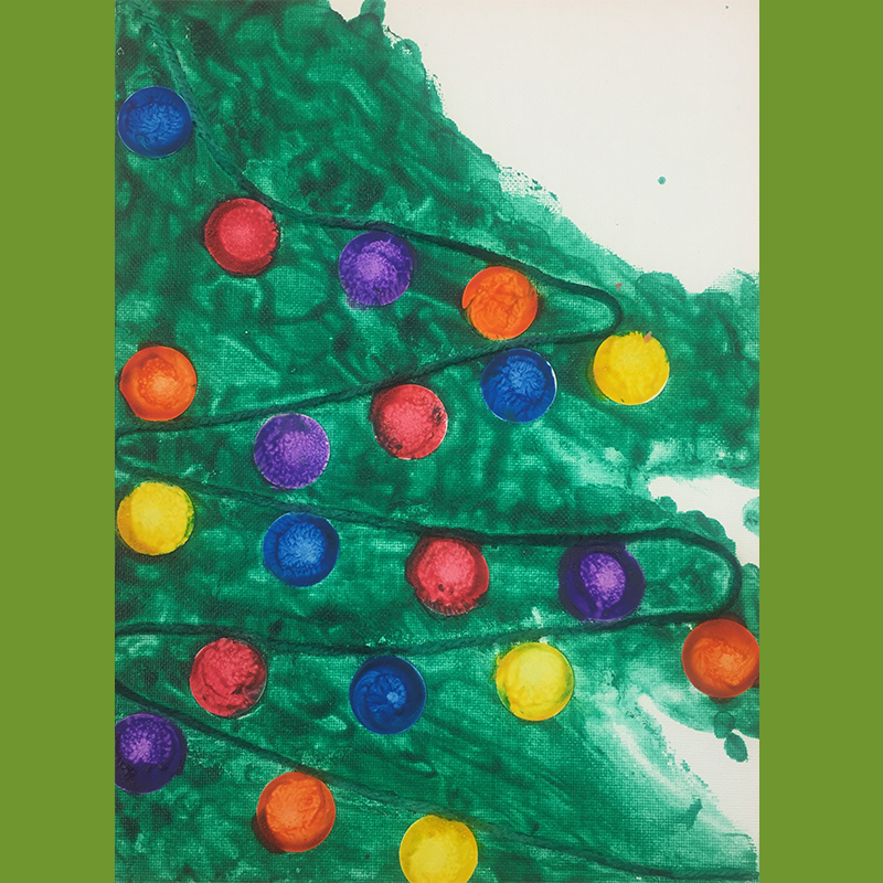 Kidcreate Studio - Woodbury, Christmas Tree on Canvas Art Project
