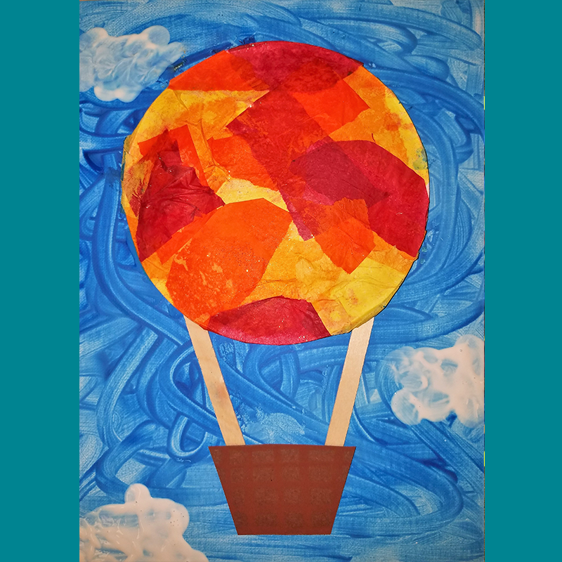 Kidcreate Studio, Hot Air Ballon on Canvas Art Project