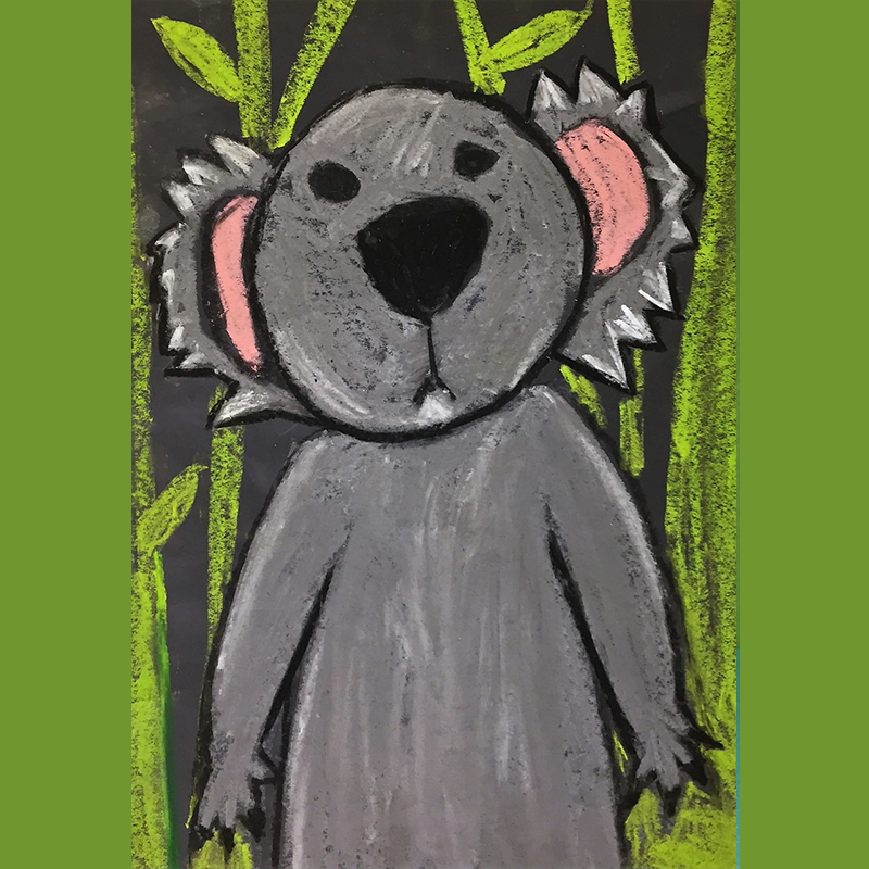 Kidcreate Studio, How to Draw a Koala Art Project