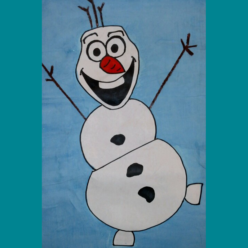 Kidcreate Studio, How to Draw Olaf Art Project