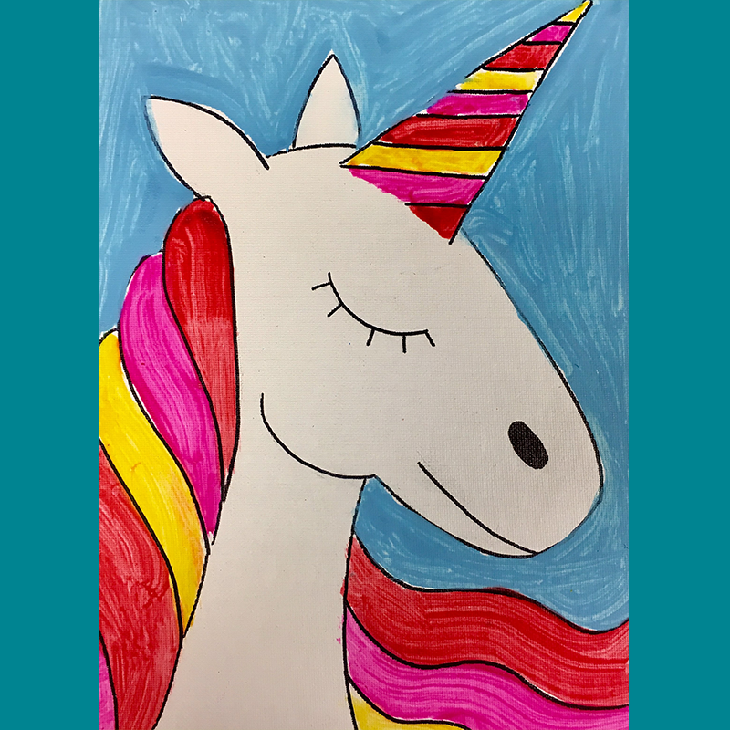 Kidcreate Studio, How to Draw a Unicorn Art Project