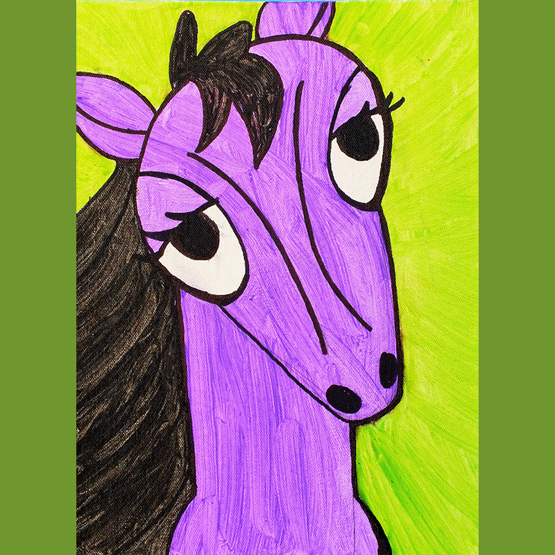 Kidcreate Studio, How to Draw a Horse Art Project