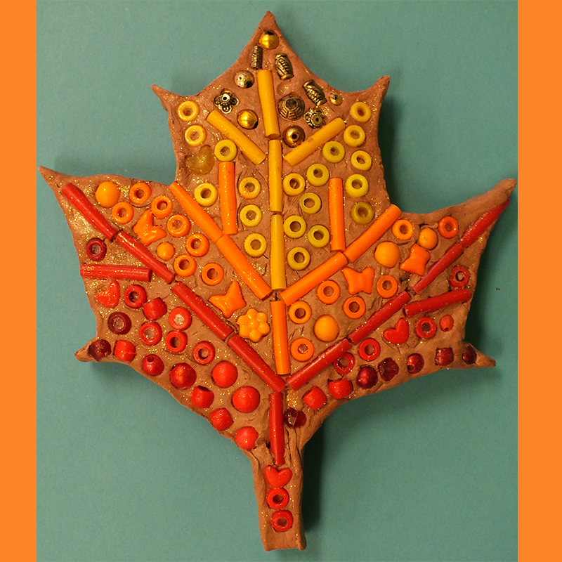 Kidcreate Studio - Johns Creek, Van Gogh Leaf Mosaic Art Project