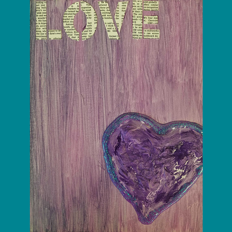 Kidcreate Studio, Love on Canvas Art Project