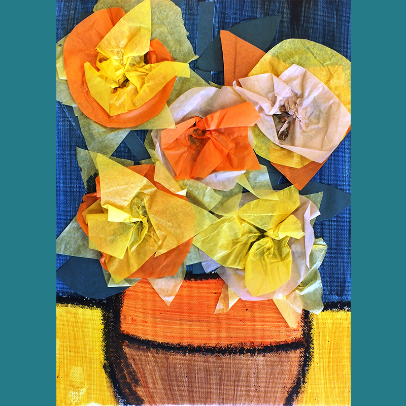 Kidcreate Studio - Johns Creek, Van Gogh Vase Art Project