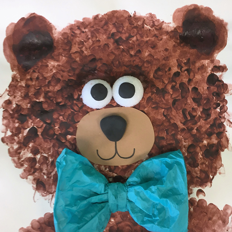 Kidcreate Studio, Messy Teddy Bear Art Project