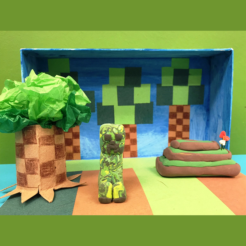 Kidcreate Studio, Minecraft Masterpiece Art Project