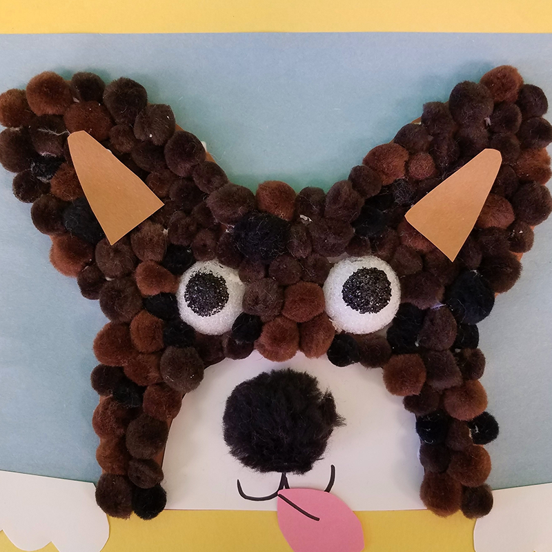 Kidcreate Studio, Pompom Puppy Art Project