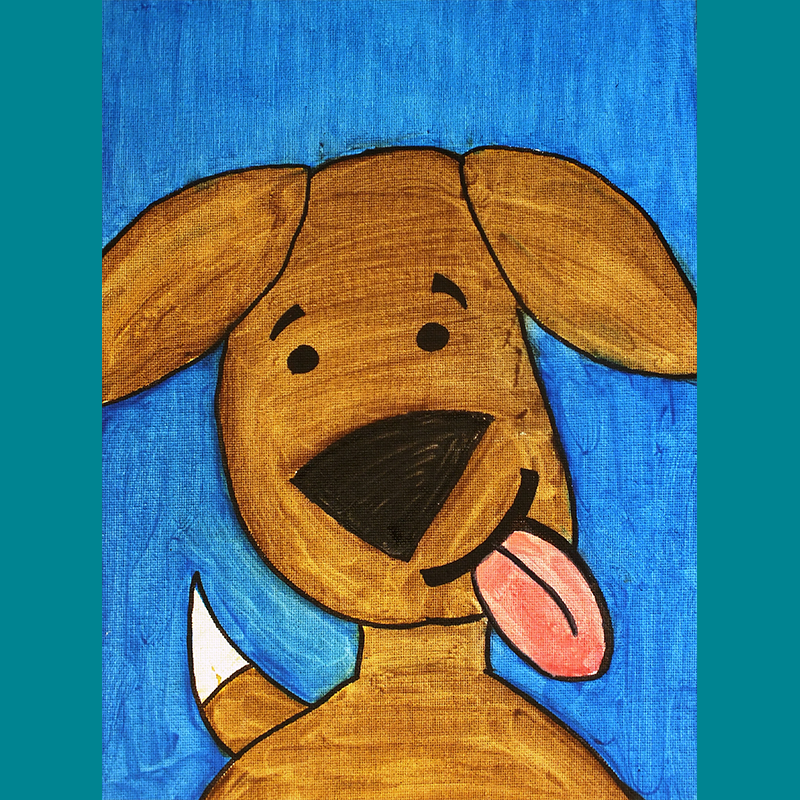 Kidcreate Studio, Puppy Portraits on Canvas Art Project
