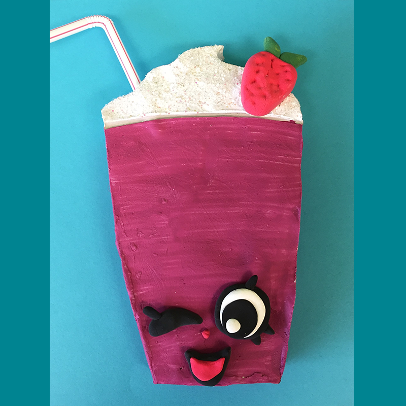Kidcreate Studio, Shopkins Cute- Berry Smoothie Art Project