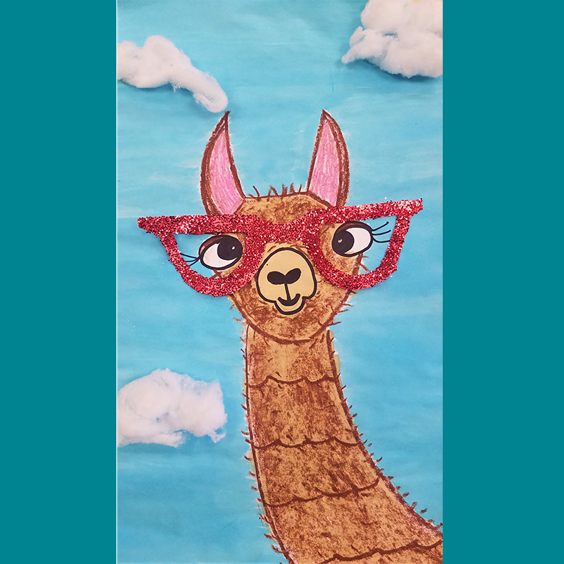 Kidcreate Studio, Silly Llama Art Project