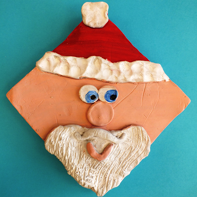 Kidcreate Studio, Silly Santa Art Project