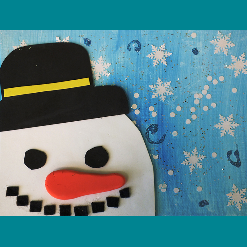 Kidcreate Studio, Snowman on Canvas Art Project