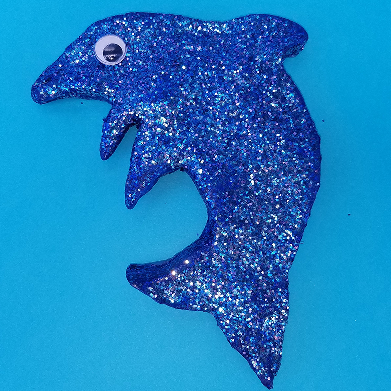 Kidcreate Studio, Sparkle Dolphin Art Project