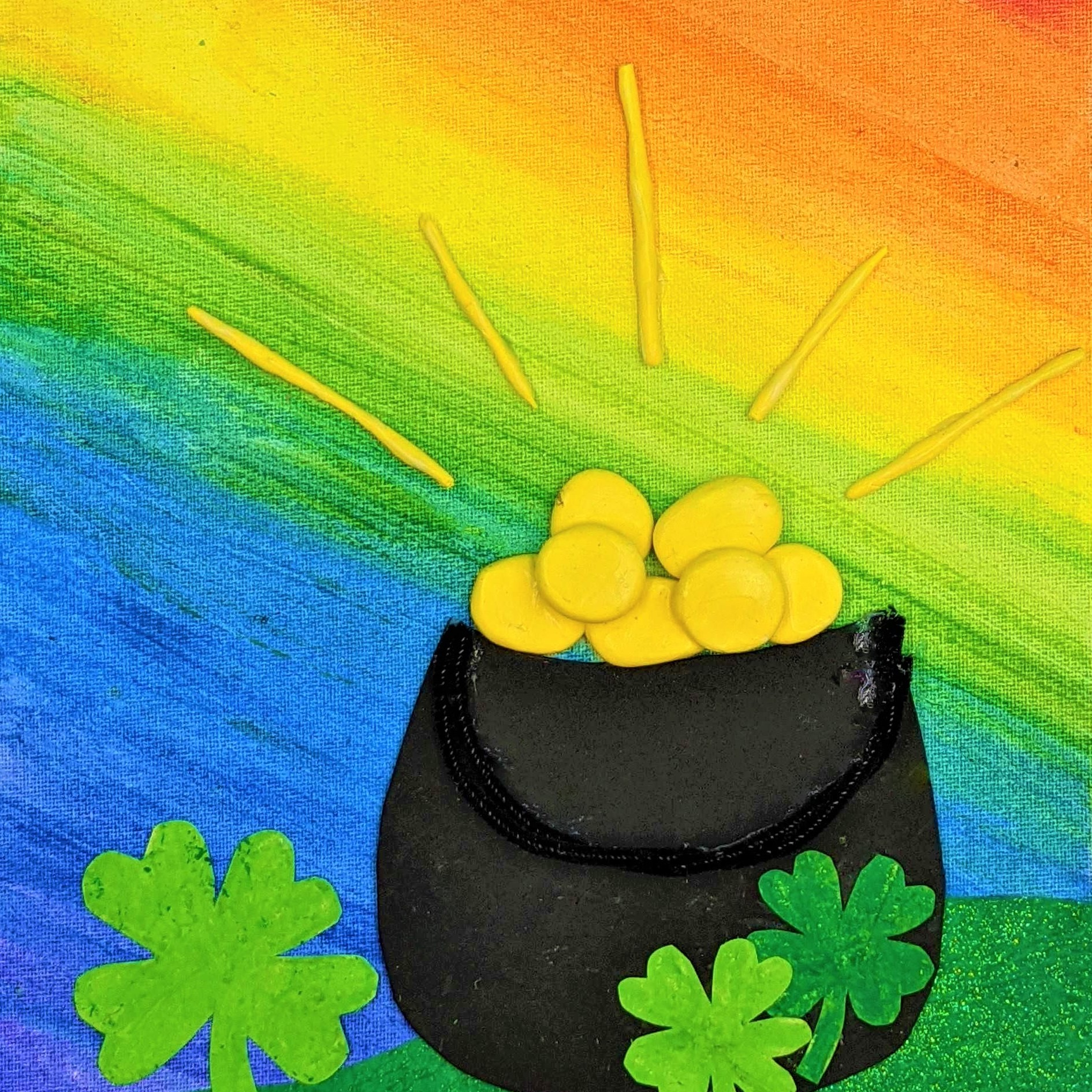 Kidcreate Studio, St. Patrick's Day Rainbow on Canvas Art Project